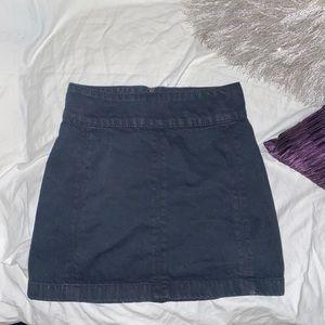 Free people dark denim mini skirt